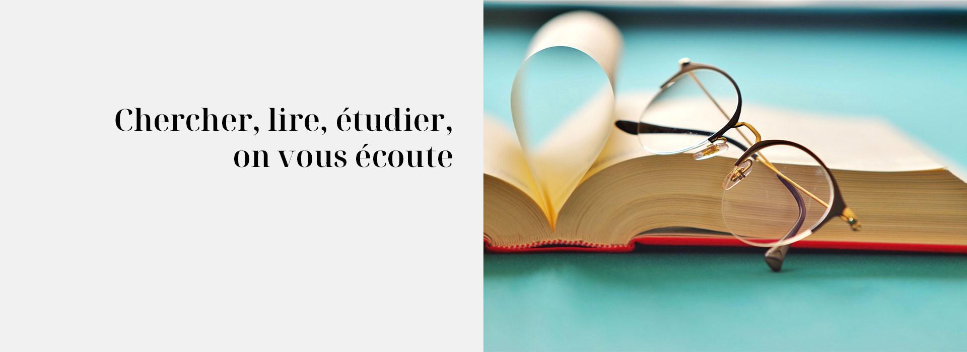 Chercher, lire, étudier